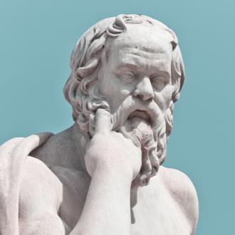 Sculpture of Greek philosopher